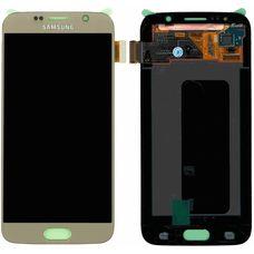 Дисплей Samsung Galaxy S6 SM-G920F ЗОЛОТОЙ (модуль, в сборе) ОРИГИНАЛ