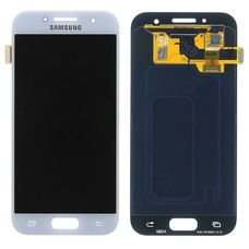 Дисплей Samsung Galaxy A3 (2017) SM-A320F Белый ОРИГИНАЛ (GH97-19732С)