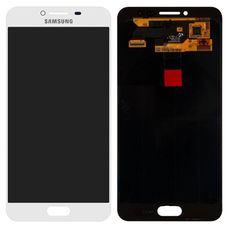 Дисплей Samsung Galaxy C5 SM-C5000 Белый (экран + тачскрин, стекло) 2016г