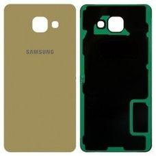 Задняя крышка Samsung Galaxy A5 A510F стеклянная (2016) ЗОЛОТАЯ