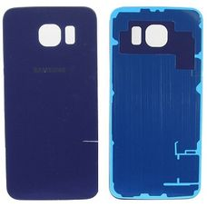 Задняя крышка Samsung Galaxy S6 G920F G920FD СИНЯЯ (стеклянная)