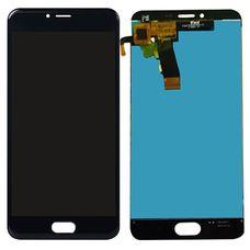 Дисплей Meizu M5 M611H черный (экран + тачскрин, стекло)