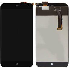 Дисплей Meizu MX3 черный (экран + тачскрин, стекло)
