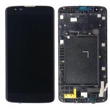Дисплей LG K7 X210 Черный В РАМКЕ (экран + тачскрин, стекло)