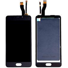 Дисплей Meizu M5 NOTE M621 Черный (экран + тачскрин, стекло)