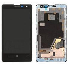 Дисплей NOKIA 1020 ОРИГИНАЛ в рамке черный (в сборе, модуль)