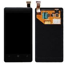 Дисплей Nokia Lumia 800 черный Microsoft (модуль, в сборе)