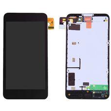 Дисплей Nokia Lumia 630 / Dual / 635 RM-976 RM-978 RM-979 В РАМКЕ черный (экран+сенсор) ОРИГИНАЛ